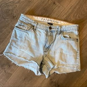 Vintage Lands End Cut Off Jean Shorts Size 33